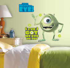 MONSTERS INC Mike Wazowski Wall Stickers Mural BiG Decals Disney