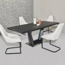 Black Glass Extending Dining Table Glass Dining Tables Dining Tables Luxurious Dining Tables