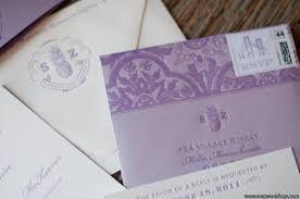 Wedding Invitations Purple Purple Ivory Wedding Invitations Rsvp