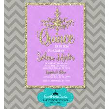 quinceanera party invitations lavender u0026 gold 15th birthday invitations chandelier