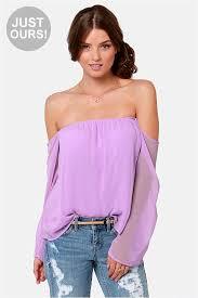lavender blouses the shoulder top lavender top 32 00