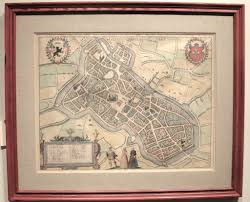 Lille France Map by Original Hand Colored Antique 1572 Map Lille France U2022 595 00