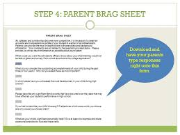 Guidance Counselor Brag Sheet Letter Of Rec Secondary Report Who Needs A Letter Of Rec