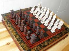chess styles china qing dynasty army style 32 pieces chess set leather wood