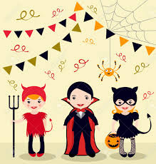halloween kids cartoons an illustration of halloween party kids royalty free cliparts
