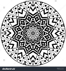 floral doodle art mandala hand drawn stock vector 429188233
