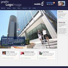 Business Web Design Homepage by Html Web Template Initiative Navy Blue With Matching Mobile Site