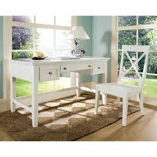 Writing Desks For Home Office Steve Silver Oslo Writing Desk With Optional Chair White