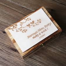Keepsake Box Personalized Alternative Wedding Guest Book Custom Rustic Wedding Recipe Box