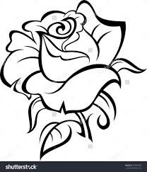 design flower rose drawing rose drawing outline coloring pages