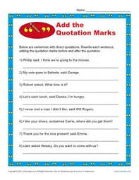 quotation mark practice quotation mark punctuation and