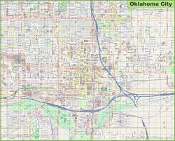 Southeast Map Of Usa by Large Detailed Map Of Oklahoma City