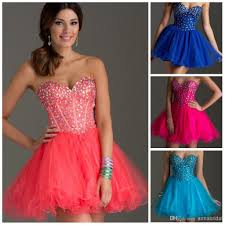 crystals short prom dresses sweetheart shiny beaded sequins