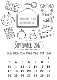 september 2017 calendar coloring page free printable coloring pages