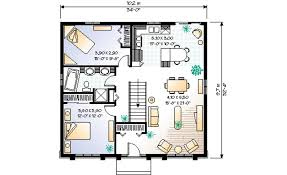 1100 square feet modern style house plan 2 beds 1 00 baths 1100 sq ft plan 23 190
