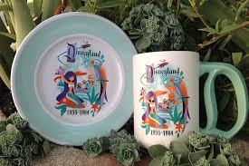 60th anniversary plates disneyland diamond anniversary decades dinnerware