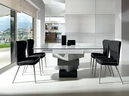 modern grey dining table kitchen tables for 8 modern square glass and high gloss cream or