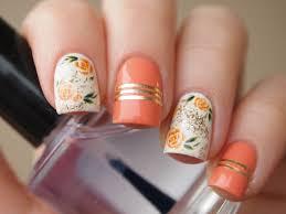 Nail Decorations Orange Rose Nail Decals Nail Stickers Nail Art Floral Nail