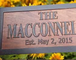 Personalized Wood Signs Home Decor Carved Wood Sign Etsy