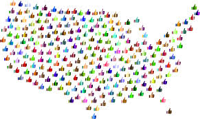 Uniteds States Map by Clipart Prismatic Thumbs Up United States Map 4