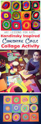 kids art lesson kandinsky inspired concentric circles collage