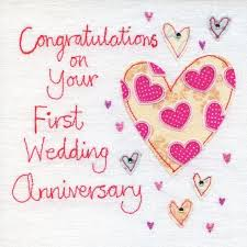 finished wedding anniversary card product image
