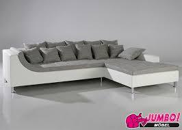 montego sofa wohnlandschaft ecksofa montego weiss graubraun jumbo discount de