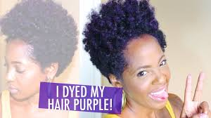 Coloring Natural African American Hair Manic Panic Ultra Violet Hair Dye On Natural Hair Youtube