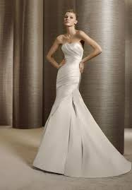 Satin Wedding Dresses Satin Wedding Dress With Mermaid Silhouette Sang Maestro