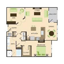 1 Bedroom Floor Plans by Floor Plans Kingsboro Place Luxury Apartment Living In Buckhead