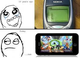 Iphone 10 Meme - nokia vs iphone meme