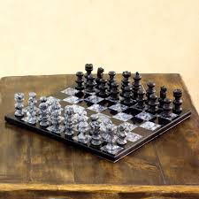 handmade u0027check in gray u0027 onyx and marble chess set mexico by