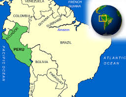 peru on map map of peru terrain area and outline maps of peru countryreports