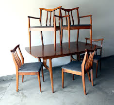 mid century modern dining table and chairs danish furniture room