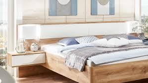 Schlafzimmer Ohne Kleiderschrank Set Arhus Schrank Bett Nako Plankeneiche Weiß Hochglanz
