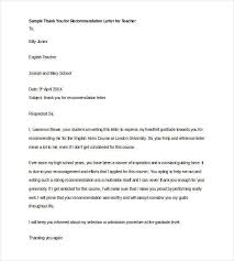College Recommendation Letter Thank You Note Reference Letter Expin Franklinfire Co