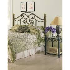 fashion bed group vienna queen size headboard with metal spindle