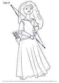 learn draw merida elinor brave brave step step