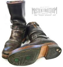 motorcycle road boots vintage engineer boots updated mister freedom road champ engineer