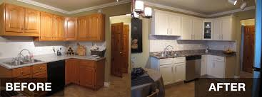 kitchen cabinet refurbishing ideas resurfaced kitchen cabinets before and after home decorating