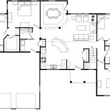 open layout house plans 7 retanglar unique open floor plans this layout with
