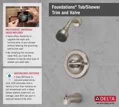 Home Depot Price Adjustment by Delta Foundations Single Handle 1 Spray Tub And Shower Faucet In
