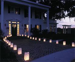 bougie jardin sacs luminaires allée jardin colombes mariage bougies photophores