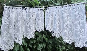 Lace Cafe Curtains Kitchen by Lace Kitchen Curtains For Sale Home Design Ideas