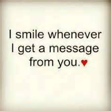 sweet messages for him to make him smile quotes 4 you