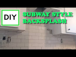 beginners diy how to install subway tile backsplash in a kitchen