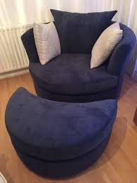 Large Swivel Chairs Living Room Brand New Dfs Astaire Large Swivel Chair With Matching Foot Stool