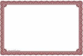 certificate blank stock certificate template