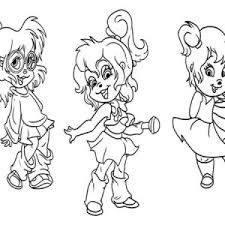 chipettes bed chipmunks doll coloring