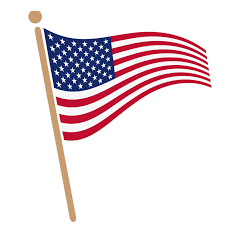 Usa Flag History American Flag On A Pole Clipart 44